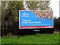 SU1969 : SLCA of Marlborough advert facing London Road, Marlborough by Jaggery