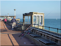 TR3752 : Fishing off Deal Pier by Robin Webster