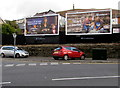 SS9992 : Clear Channel advert boards, Trealaw Road, Trealaw by Jaggery