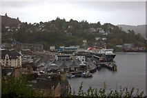 NM8529 : Oban ferry terminal and railway station by Robert Eva