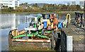 "J3473 : The ""Cuan Spirit"", River Lagan, Belfast (October 2017) by Albert Bridge"