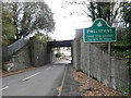 ST1488 : Railway bridge over Heol Pwllypant, Pwllypant by John Lord