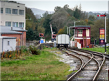 SD8022 : Rawtenstall West Signal Box and Level Crossing by David Dixon