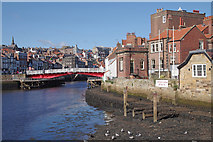 NZ8911 : Whitby swing bridge and upper harbour by M H Evans
