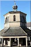 NZ0516 : The Market cross upper storey by Bob Harvey