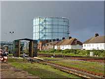 TQ0202 : Gas holder, Littlehampton by Robin Webster