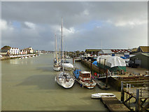 TQ0202 : Wharves on west bank of Arun, Littlehampton by Robin Webster