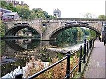 NZ2742 : Framwellgate Bridge, River Wear, Durham by G Laird