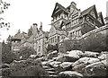 NU0702 : Looking up at Cragside by Des Blenkinsopp
