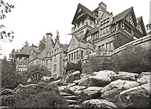 NU0702 : Looking up at Cragside by Des Blenkinsopp
