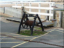 SS2006 : One of the hand-winches for the sea lock gates by Richard Law