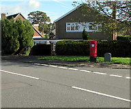 ST3091 : Queen Elizabeth II pillarbox and Royal Mail drop box on a Malpas corner, Newport by Jaggery