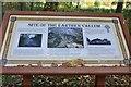 NT5833 : Earthen Vallum information board, Old Melrose by Jim Barton