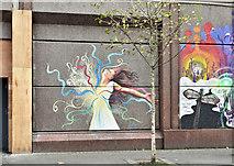 J3374 : Street art, Donegall Street, Belfast - October 2017(2) by Albert Bridge