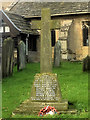 SE4561 : The World War I Memorial in the Churchyard at Little Ouseburn by David Dixon
