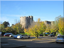 ST5394 : Chepstow Castle Car Park by Roy Hughes