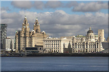 SJ3390 : The Three Graces, Liverpool by Mark Anderson