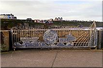 NZ8911 : Whitby Pier Storm Gate by David Dixon