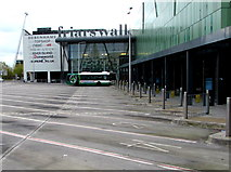 ST3188 : Quiet Friars Walk Bus Station on a Sunday morning, Newport by Jaggery