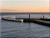 NZ8911 : Whitby West Pier, Early Morning by David Dixon