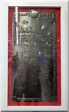 SP0686 : War memorial inside New Street Station in Birmingham by Helen Steed
