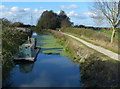 SK8534 : Works barge on the Grantham Canal by Mat Fascione