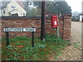 TF7933 : Elizabeth II postbox on Bagthorpe Road, Bircham Newton by JThomas