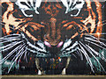 NS5864 : Tiger mural at Customhouse Quay by Thomas Nugent