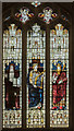 SP0343 : Stained glass window, All Saints' church, Evesham by Julian P Guffogg