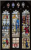 SP0343 : Battle of Evesham window,  St Lawrence's church, Evesham by Julian P Guffogg
