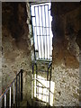 ST4916 : Ladder and grill at the top of St Michaels Tower. by Roger Cornfoot