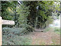 TF7830 : Permissive footpath sign by Adrian S Pye