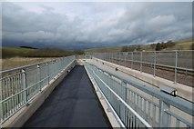 NT4054 : Subway ramp, Heriot by Richard Webb