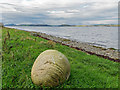 NH7552 : Boulder on the shoreline of the Moray Firth by valenta