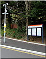 ST1479 : Information boards near the main entrance to Llandaf railway station, Cardiff by Jaggery