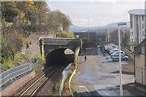 NT4836 : A7 crossing the Borders Railway, Galashiels by Jim Barton