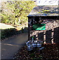 SO3620 : Kegs and gas cylinders, Llangattock Lingoed by Jaggery