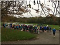 NS5562 : Runners gather at the start of the Pollok parkrun by Graham Hogg
