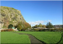 NS4074 : Dumbarton Rock and Riverside Park by Jonathan Thacker