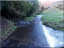 SO4494 : Across a ford, Carding Mill Valley, Church Stretton by Jaggery
