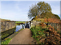 SD7807 : Manchester, Bolton and Bury Canal, Former Bridge Abutments at Radcliffe by David Dixon