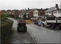 ST3090 : Larch Grove roadworks, Malpas, Newport by Jaggery