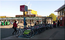 NS5566 : Nextbike Glasgow cycle hire point: Partick Interchange by Thomas Nugent
