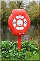 SU8586 : Lifebuoy by the River Thames, Marlow, Bucks by P L Chadwick