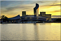 SJ8097 : Sunset at Imperial War Museum North by David Dixon