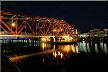 SJ8097 : Salford Quays, The Detroit Bridge by David Dixon