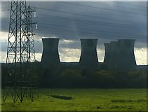 SK3030 : Towers, lowering clouds and pylons by Alan Murray-Rust