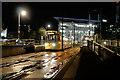 SJ8097 : Night Tram at MediaCityUK by David Dixon
