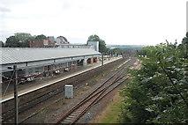 NT9953 : Down platform, Berwick-upon-Tweed Station by Bill Harrison