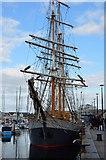 SX4854 : Tall ship, Sutton Harbour by N Chadwick